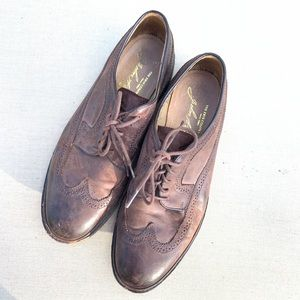Frye James Distressed Wingtip brown Oxford size 10